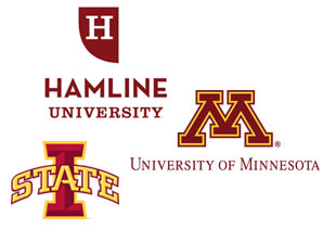 Hamline University, University of Minnesota, Iowa State